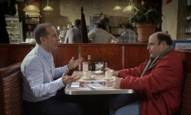 "Jerry Seinfeld's Super Bowl commercial for a ""Seinfeld"" episode of Comedians in Cars Getting Coffee with George Costanza"
