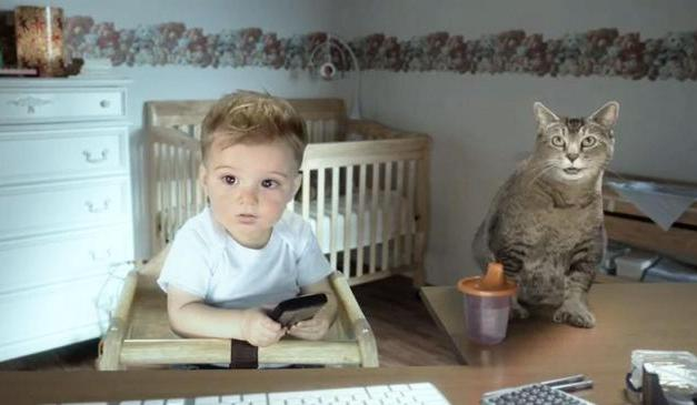 Pete Holmes, E*Trade grow out of talking baby ad campaign? Baby quits ad!