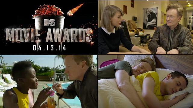 Conan O'Brien's 50 celebrity cameos to open the 2014 MTV Movie Awards