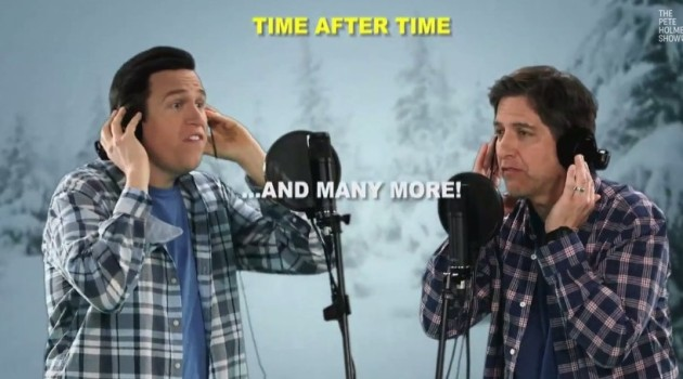 """Romano Duets,"" the music compilation spoof featuring Ray Romano singing alongside Pete Holmes as Ray Romano"