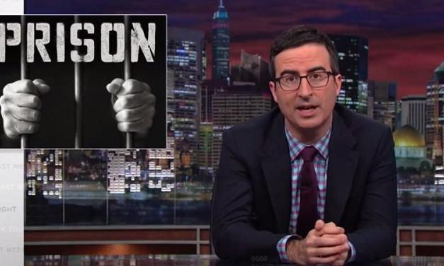 Prison isn't funny, but prison rape is? Another blistering report from Last Week Tonight with John Oliver