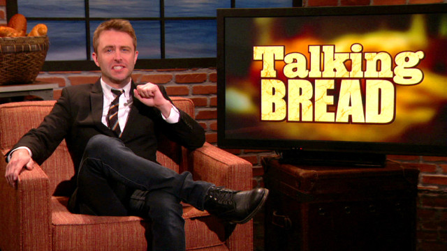 "Chris Hardwick's ""Talking Bread"" chat with Andy Daly, Tig Notaro, via Team Coco"