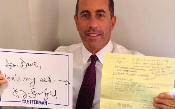 Jerry Seinfeld on Late Show with David Letterman