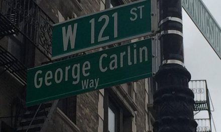 New York's comedy community turns out to dedicate George Carlin Way on West 121st Street