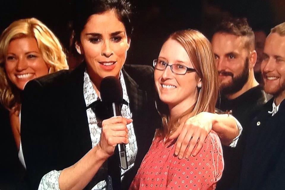 Sarah Silverman's SNL monologue with an audience member, who wasn't an SNL cast member or paid actress