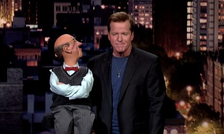 Jeff Dunham with Walter on Late Show with David Letterman