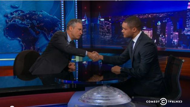 Jon Stewart defends his replacement, Trevor Noah, on The Daily Show