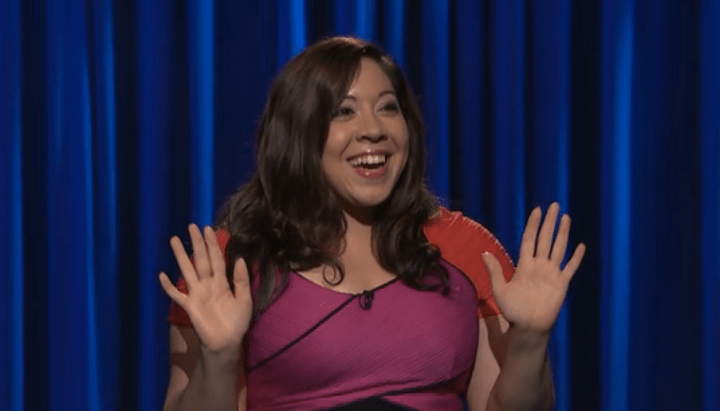 Gina Brillon on Late Night with Seth Meyers