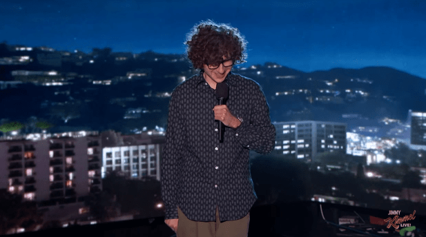 Jesse Elias makes his network TV debut on Jimmy Kimmel Live