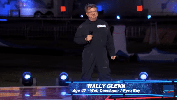 Wally Glenn auditions as Pyro Boy for America's Got Talent 2015