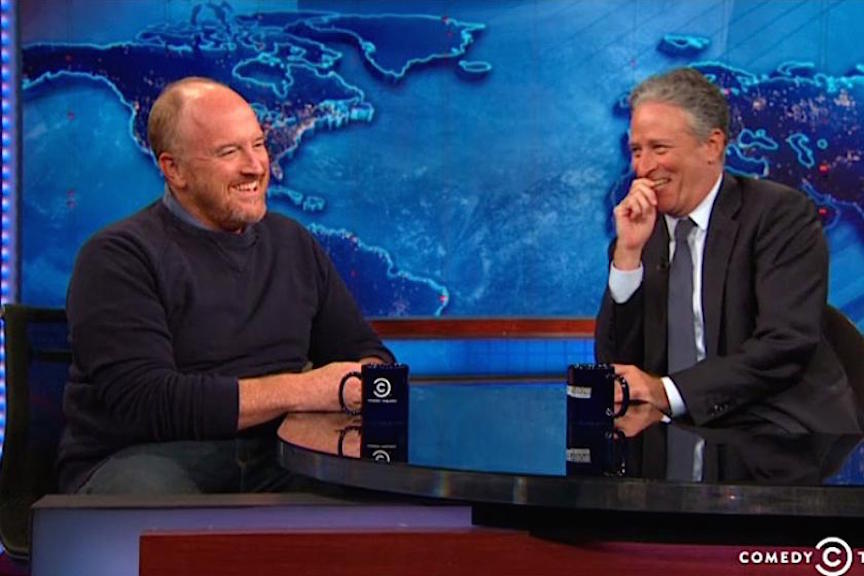 Jon Stewart reminisces with Louis CK about The Comedy Cellar in final Daily Show guest segment