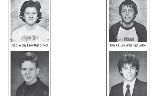 Yearbook photos for classmates Louis CK and Matt LeBlanc