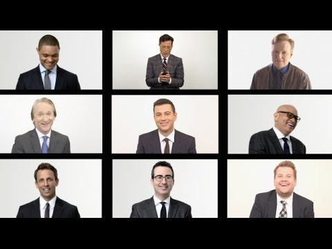 Late-night TV's male hosts of 2015 impersonate one another