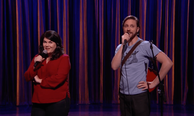 "Drennon Davis & Karen Kilgariff perform ""Dumb Tattoo Song"" on Conan"