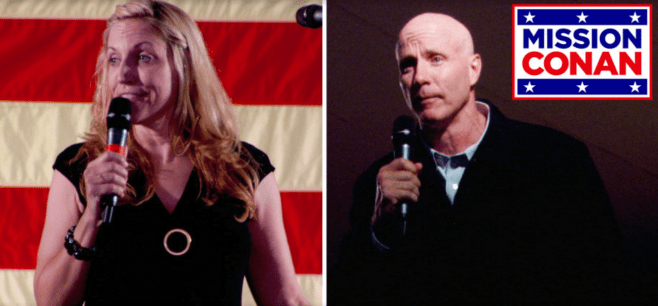 "Laurie Kilmartin and Brian Kiley performed on ""Mission Conan"""