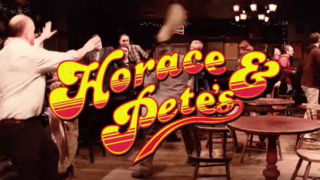 "Imagine Louis CK's ""Horace and Pete"" as a Cheers sitcom with laugh track"
