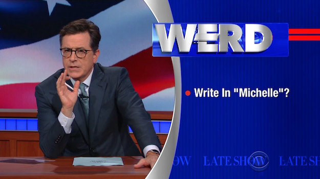 "Stephen Colbert's identical cousin ""Stephen Colbert"" provides the ""Werd"" on The Late Show, thanks to Viacom"