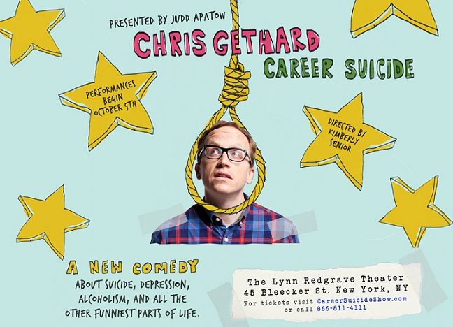 "Judd Apatow taking Chris Gethard's ""Career Suicide"" Off-Broadway for theatrical run"