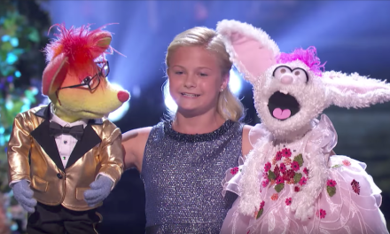 Darci Lynne performs a duet on the finals of America's Got Talent 2017