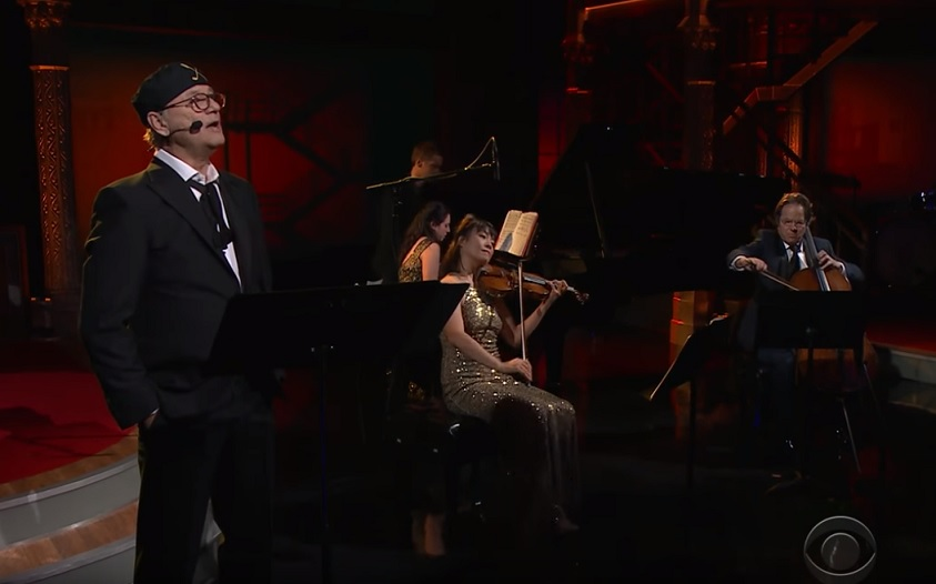 Bill Murray does a West Side Story medley with Jan Vogler and friends on The Late Show with Stephen Colbert