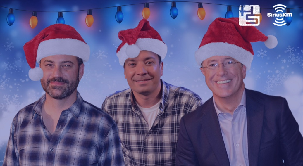 Jimmy Kimmel, Jimmy Fallon and Stephen Colbert sing a Christmas ...