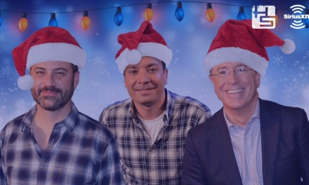 Jimmy Kimmel, Jimmy Fallon and Stephen Colbert sing a Christmas carol for Howard Stern