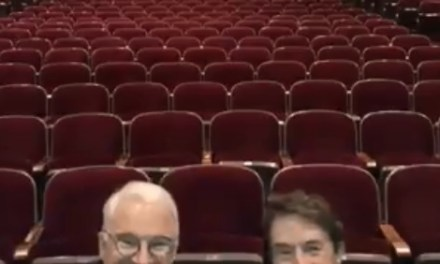 Steve Martin and Martin Short taping their tour for Netflix