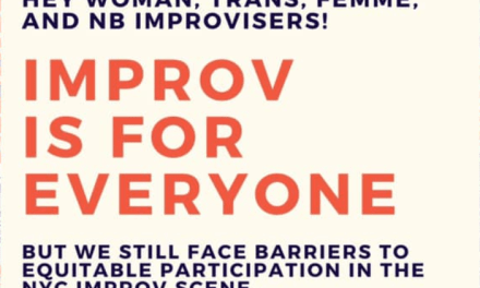 An improv comedy workshop for inclusion
