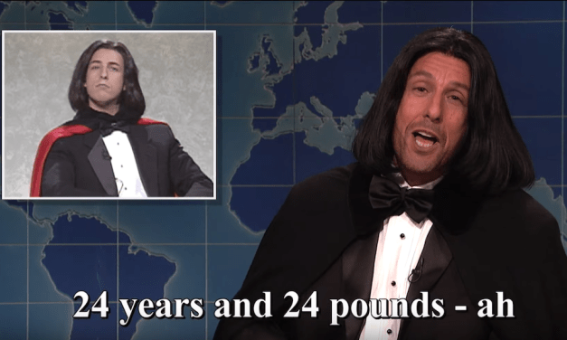 Adam Sandler's Saturday Night Live monologue, return of Opera Man, and his Chris Farley song