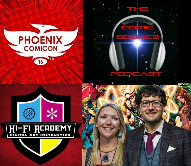 The Comic Source Podcast Episode 115 Phoenix Comicon Interview HiFi Design