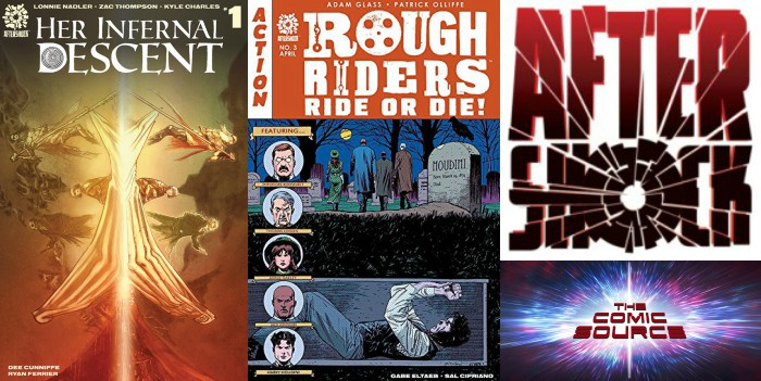 The Comic Source Podcast Episode 288 – AfterShock Monday Her Infernal Descent #1 & Rough Riders: Ride or Die #3