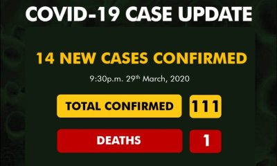 JUST IN: Nigeria's Cases Of COVID-19 Hit 111