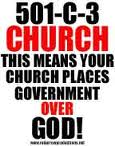 A 501 c 3 is definitely not the church for me.