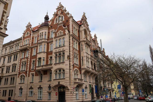 Facade maison Prague