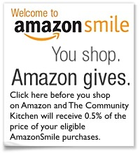 Give back with a purchase from AmazonSmile. Click here to support the Community Kitchen