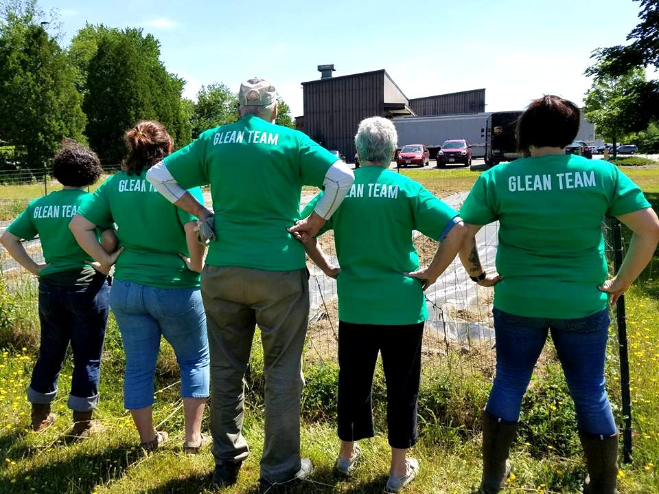 Appropriately named The Glean Team, The Community Kitchen's volunteer gleaners.