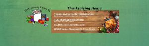 Thanksgiving Hours 2018