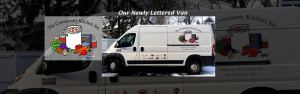 Our New Van is lettered with our Logo!