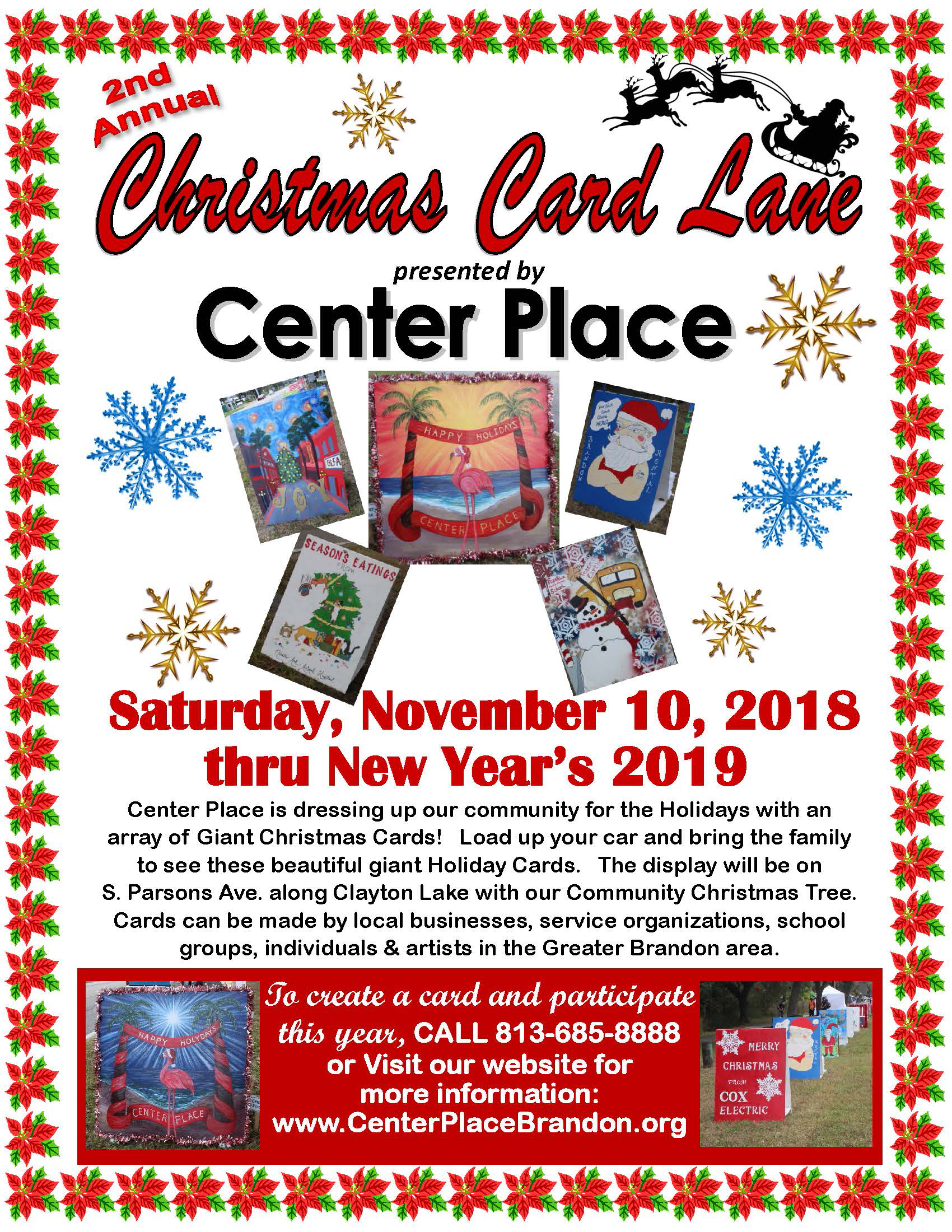 Christmas Card Lane By Center Place Registration Deadline 11 5