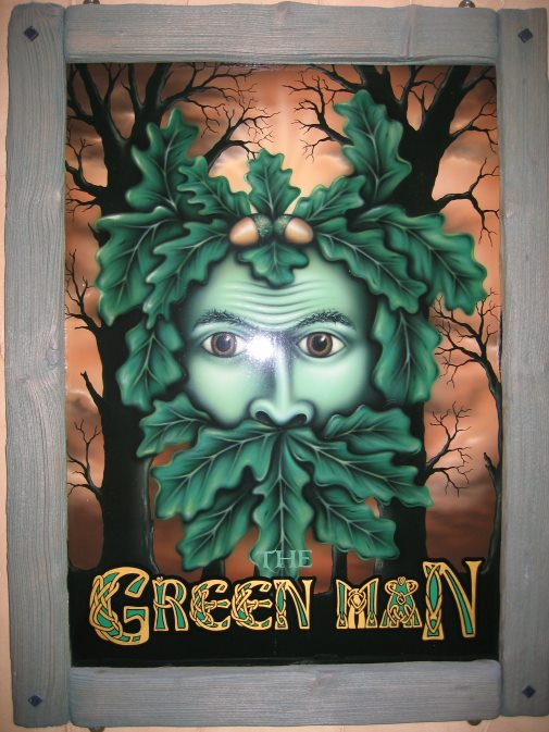 """Andrew Smiths """"Green Man"""" Pub Sign © Andrew Smith"""