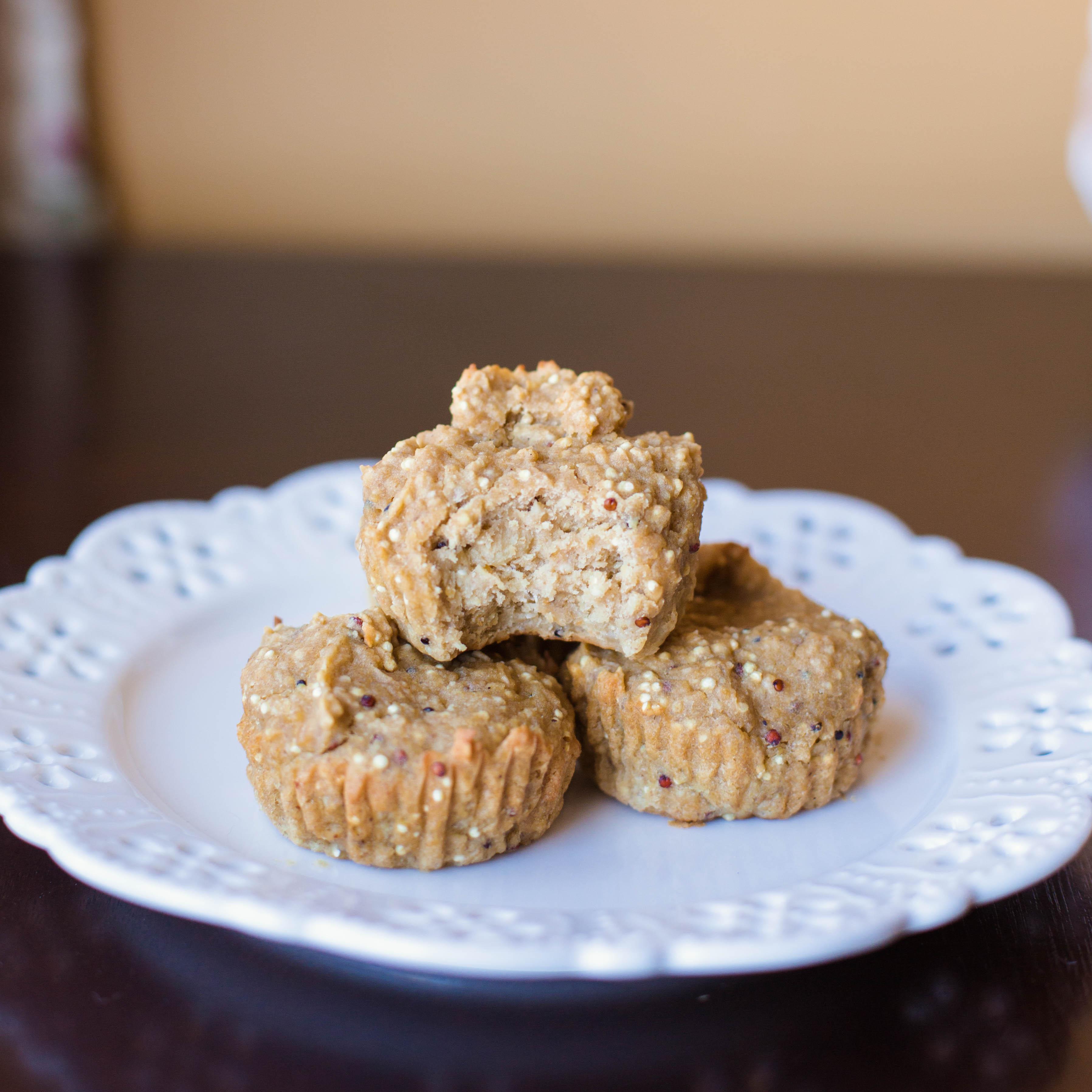 Vegan Peanut Butter Banana Flourless Muffins