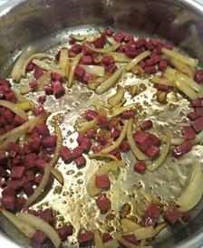 Salami and onion
