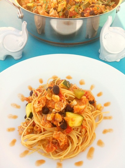 Plated Mexican Spaghetti ~ The Complete Savorist
