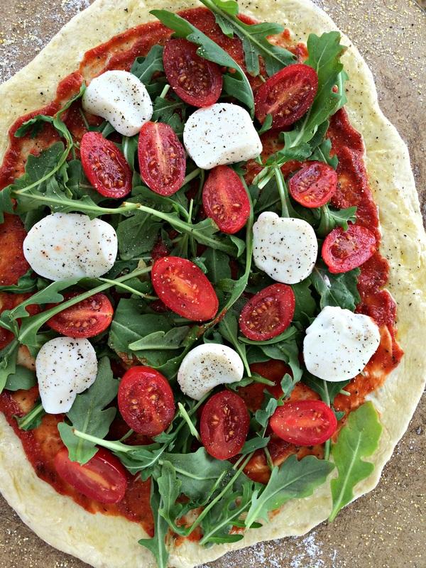 Fresh Mozzarella to Tomato and Arugula Pizza ~ The Complete Savorist