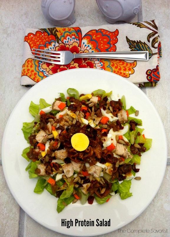 High Protein Salad ~ The Complete Savorsit