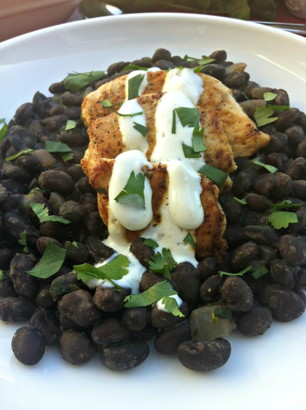 Chicken and Black Beans with a Tequila Cream Sauce ~ The Complete Savorist