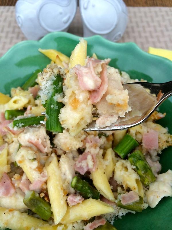 Chicken Cordon Bleu  Mac n Cheese with Asparagus ~ The Complete Savorist