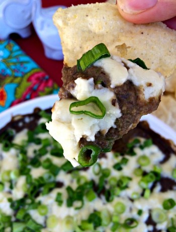 A healthier black bean dip that offers a tasty punch by combining beans with poblano peppers, cilantro, garlic and lime. ~ The Complete Savorist by Michelle De La Cerda