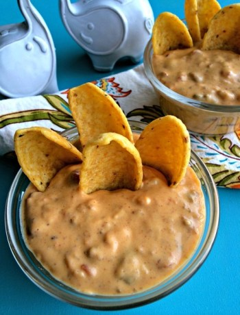 Quick Queso Dip ~ A quick and easy, crowd pleasing option that's naturally gluten free can easily be made on-hand pantry staples~ The Complete Savorist by Michelle De La Cerda