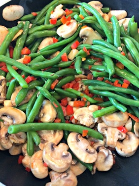 Ginger Green Bean and Mushroom Chicken Stir Fry ~ The Complete Savorist